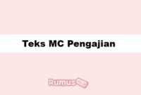 Teks MC Pengajian